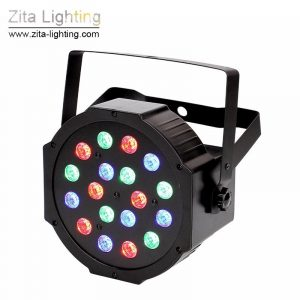 RGBW LED 18X3W Mini Par with DMX512 control for Stage Lighting (12 pack) by Zita Lighting