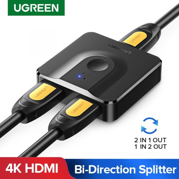 Ugreen HDMI Splitter Bi-Directional 1x2/2x1 Adapter 2 in 1 with switch