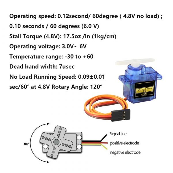 SG90 Micro Servo Motor Mini Servo SG90 9g Servo Kit