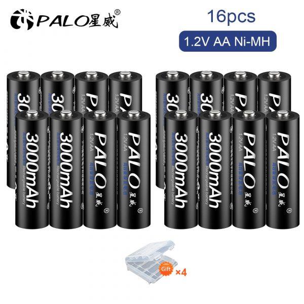 AA Battery Rechargeable Battery1.2V AA 3000mAh Ni-MH Pre-charged Rechargeable Battery 4Pcs