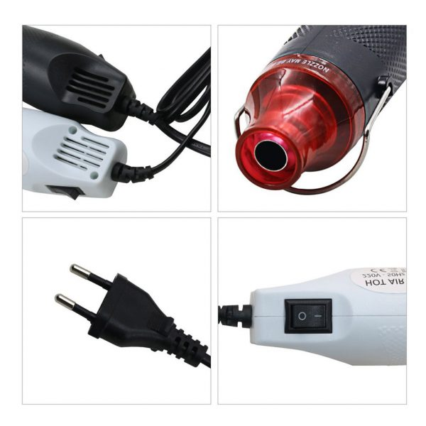 Mini Heat Gun with Thermostat, Hot Air Blower Thermal Power Tool
