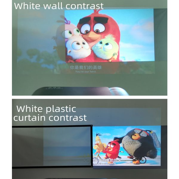 Projection Screen 60 72 84 100 120 inches portable projector screen
