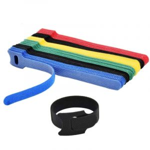 Velcro Cable Tie Reusable 6-Inch Adjustable 100pcs