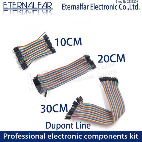 Dupont Line Jumper Wire 10CM 20CM 30CM 40PIN Male Female Head Bridle Rainbow Cable