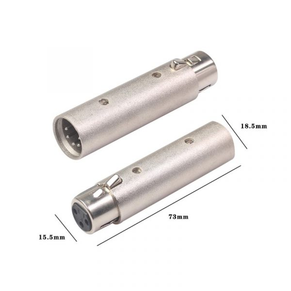 3 Pin XLR Female To 5 Pin XLR Male Connector Adapter