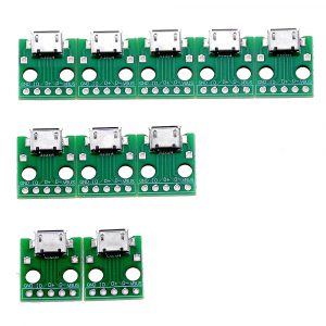 MICRO USB To DIP Adapter 5pin Female Connector B Type PCB Converter Breadboard 10PCS