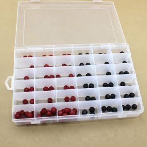 Storage Box Display Case Parts Organizer 10/15/28/36 Slots Clear