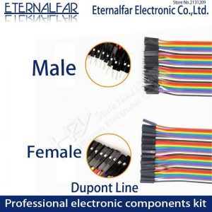 Dupont Line Jumper Wire 10CM 20CM 30CM 40PIN Male Female Head Bridle Rainbow Cable