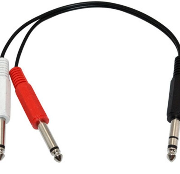 """1/4"""" TRS Male to Dual 1/4"""" TS Male Mono Insert Cable"""