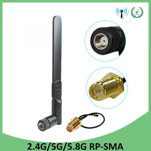 Wifi Antenna 2.4GHz 5GHz 5.8Ghz Antenna 8dBi RP-SMA Connector Dual Band
