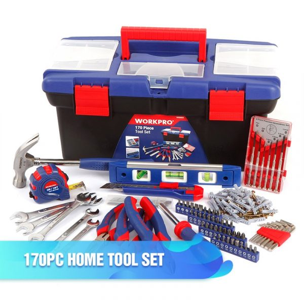 WORKPRO Home Tool Set with Socket Set Screwdriver and Assorted Hand Tools