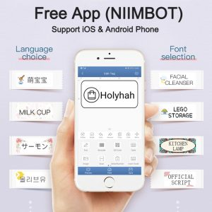 Niimbot D11 Wireless label printer Portable Pocket Label Printer with Bluetooth