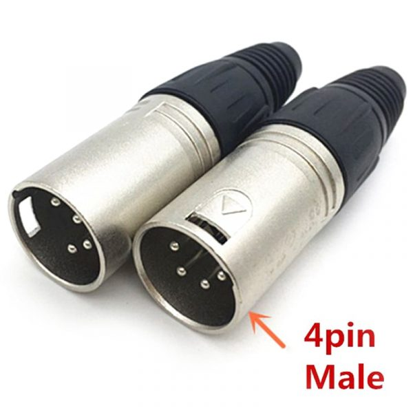 Male & Female 3-Pin 4-Pin 5-Pin XLR Plug Connectors
