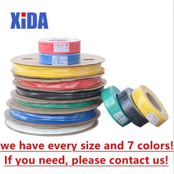 Heat Shrink tube 1 Meter 2:1 color 1 2 3 5 6 8 10mm Diameter Heatshrink Tubing