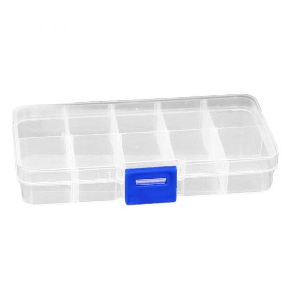 Storage Box Display Case Parts Organizer 10/15/28/36 Slots Clear