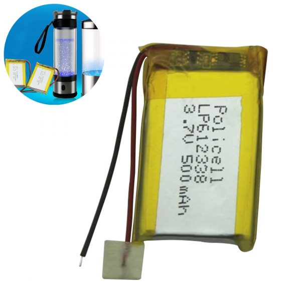 3.7V 500mAh 612338 Lithium Polymer Li-Po Li ion Rechargeable Battery