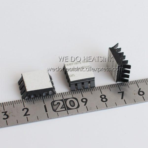 Aluminum Spiky Black Mini Heatsink 13x14x6.5mm for IC VGA RAM With Thermally Adhesive Tape 10pcs