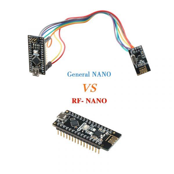 Keywish RF-Nano for Arduino Nano V3.0, Micro USB Nano Board ATmega328P QFN32 5V 16M CH340, Used to integrate NRF24l01+2.4G wireless