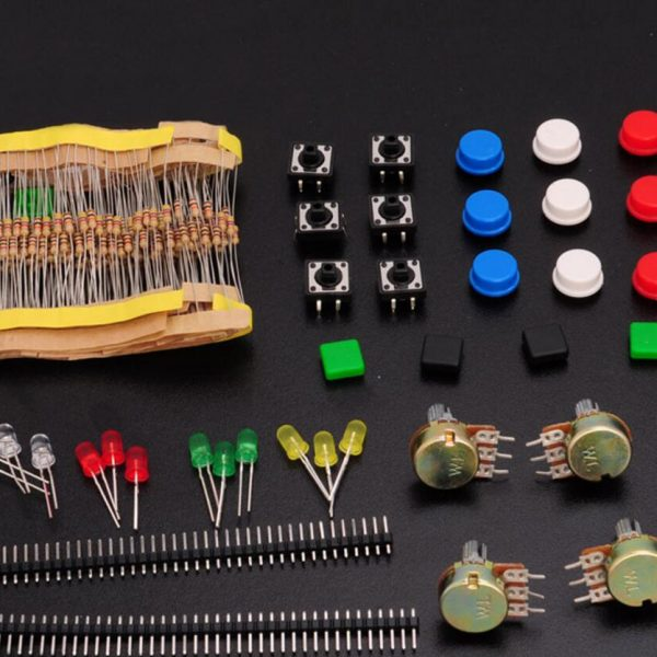 Super Electronic Kit (carbon film Resistor+LED+WTH148 Potentiometer) Standard Electronic Project Part Assortment