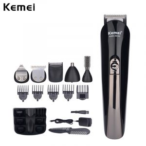 Beard Trimmer Rechargeable Hair Clipper with Electric Nose Shaver and Led Indicator