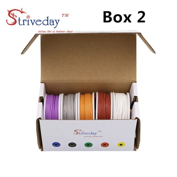 lexible Silicone Wire Cable 5 color Mix box 30/28/26/24/22/20/18awg Hookup Kit