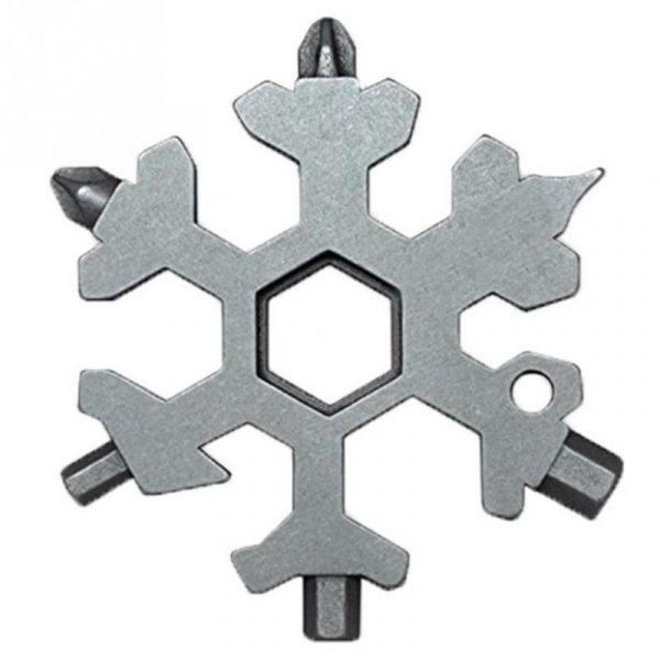 18 in 1 Multi-function Snow-flake Screwdriver Spanner Tool with Key Chain