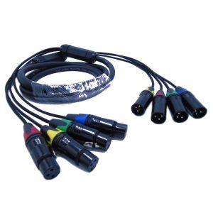 4 Channel 3 Pin XLR Snake Cable Male to Female