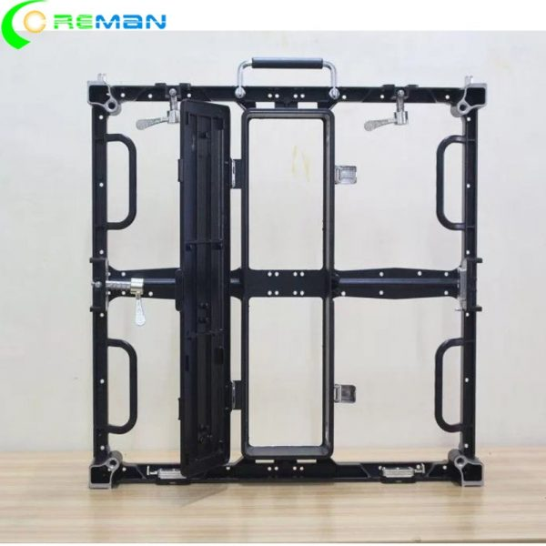500x500mm indoor outdoor video wall 250x250mm led module frame housing p2.6 p2.97p3.91 p4.81 led cabinet