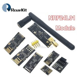 NRF24L01+PA+LNA with Antenna, Socket Adapter 2.4G Wireless Data Module 1100-Meter Range