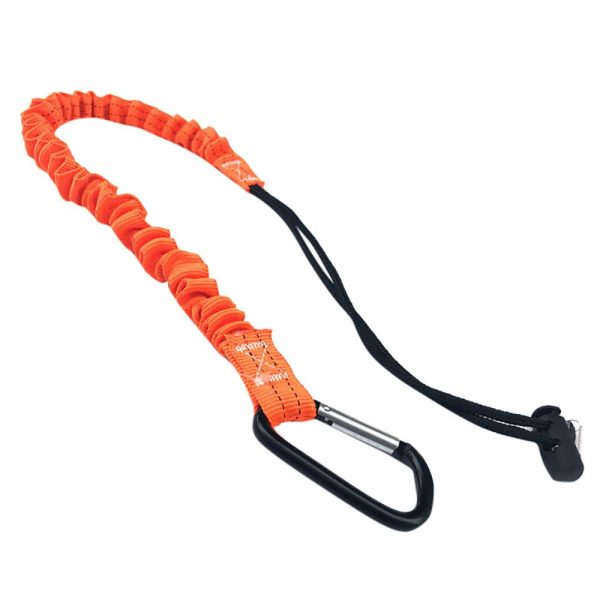 Retractable Tool Lanyard with Carabiner - Telescopic Elastic Safety Tool Tether for Climbing