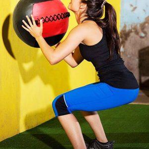Wall Balls 35cm Crossfit Medicine Ball for Workouts Soft Grip Medicine Ball - Empty