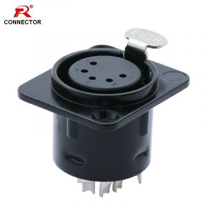 5 pin XLR Female Chassis Connector, Panel Mount XLR Female