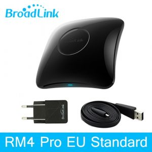 Broadlink RM4 Pro Rm4C Mini Universal Intelligent Remote Control for Smart Home Automation with WiFi IR RF Works With Alexa and Google Home