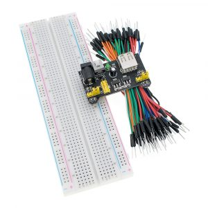 Solderless Prototype Bread board kit with 3.3V/5V MB102 Breadboard power module+MB-102 830 points board and +65 Flexible jumper wires