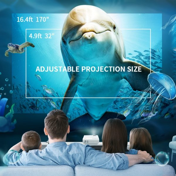 Mini Projector 1920*1080P 170'' with 40000 Hrs LED Lamp Life