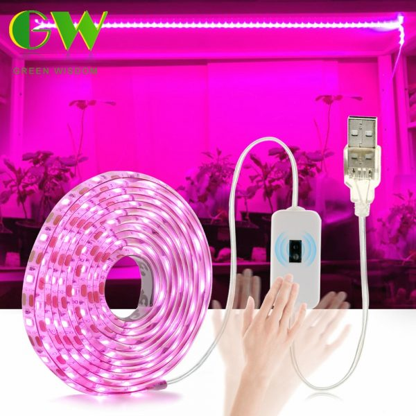 LED Grow Light Full Spectrum USB Grow Light Strip 0.5m 1m 2m 3m 2835 SMD DC5V LED