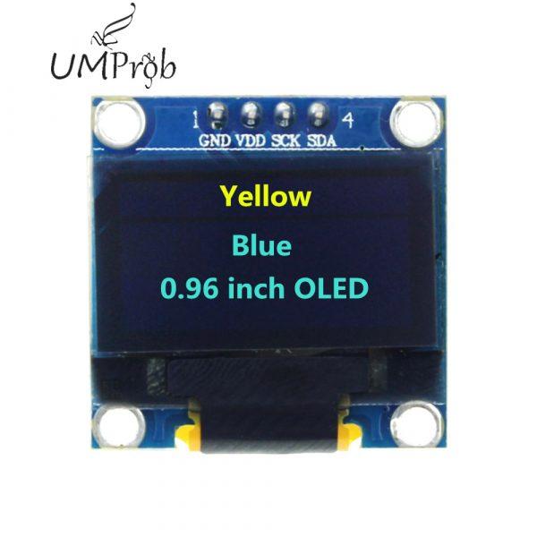 0.91 Inch 128x32 IIC I2C White / Blue OLED LCD Display DIY Module SSD1306 Driver IC DC 3.3V 5V