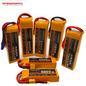 7.4V 11.1V 14.8V 22.2V RC LiPo Battery 1300 2200 3300 4200 5200 6000mAh 2S 3S 4S 6S 25C 35C 60C For RC Airplane Drone Quadrotor