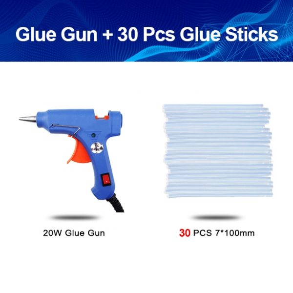 Hot Glue Gun 20W uses 7mm Glue Sticks