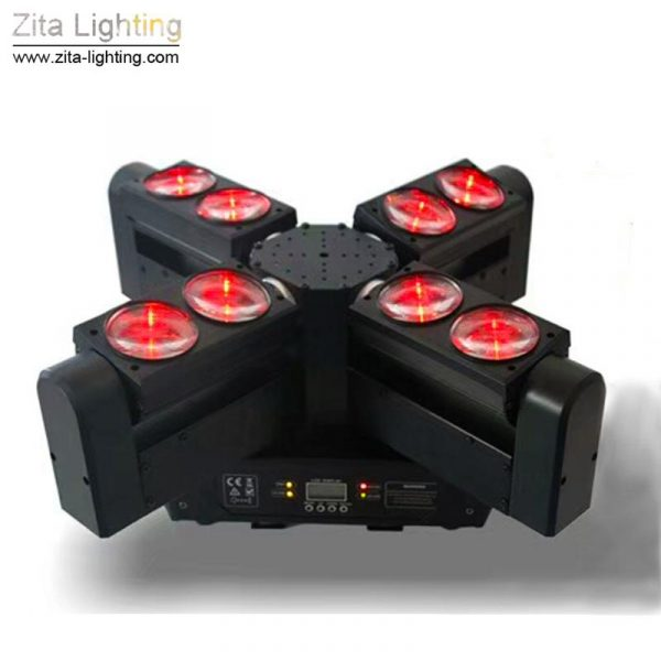 8 EYE RGBW 8X12W Moving Head LED Spider Light for Stage Lighting with DMX512 control by Zita Lighting