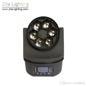 Mini Bee Eye 6X15W RGBW LED Moving Head Stage Lights with Zoom by Zita Lighting
