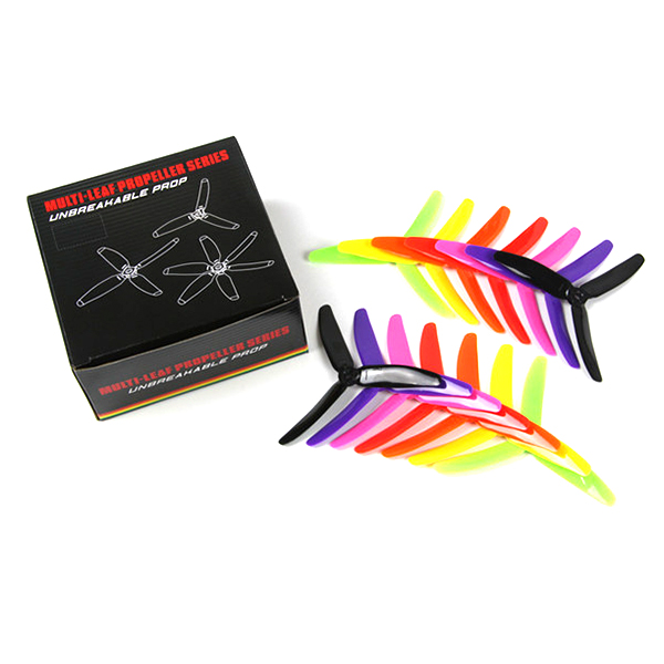5040 5 Inch 3-Blade Rainbow Propeller for FPV Drone Racing (14 Pieces) 5X4X3