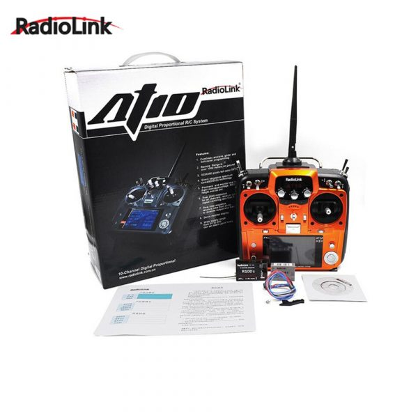 RadioLink AT10 II 2.4Ghz 12CH RC Transmitter with R12DS Receiver PRM-01 Voltage Return Module