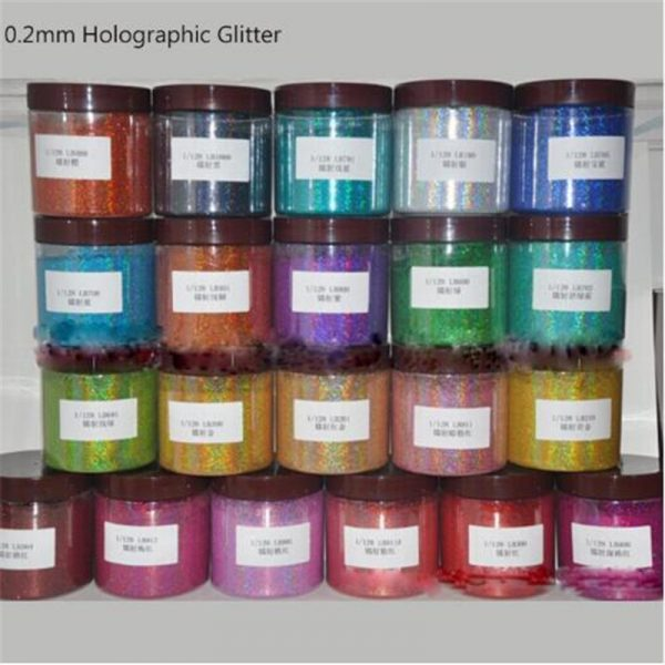 Bulk Ultra-fine Glitter for Glitter Bombs 10g/bag Holographic 0.2mm Laser Dust Multiple Colors
