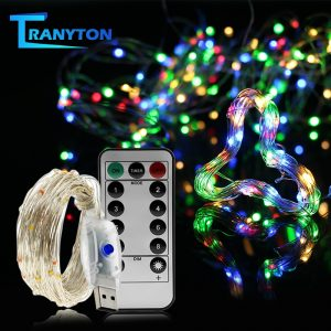 USB LED Copper Wire String Color Fairy String Lights