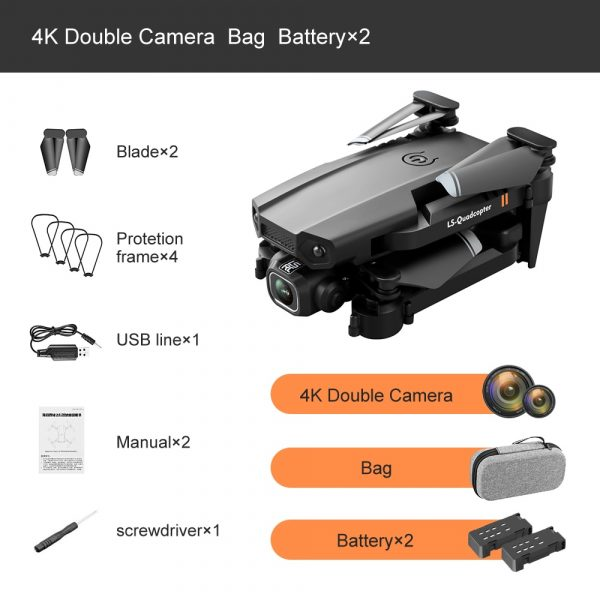 XT6 Mini Foldable Quadcopter Drone with Double HD Cameras and WiFi for FPV Racing with Air Pressure Sensor and Altitude Hold